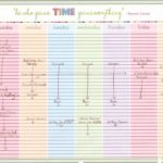 Printable Daily Schedule With Time Slots