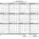 Free Printable 12 Month Blank Calendar