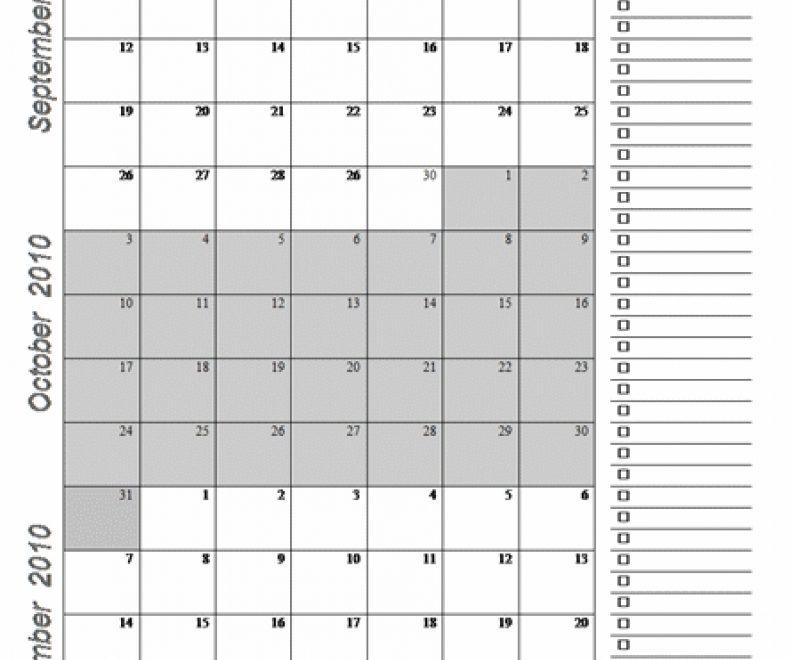 3 Month Calendar Template Month Calendar Template 2016 Printable