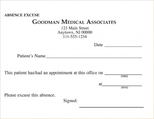 7 Doctor Excuseagenda Template Sample | Agenda Template Sample