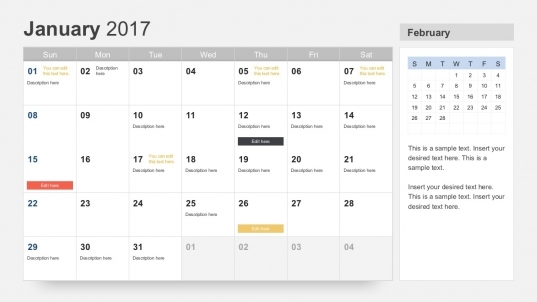 Calendar 2017 Template For Powerpoint