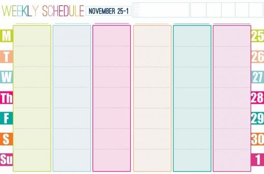 Cute Calendar Templates – Blank Calendar 2017