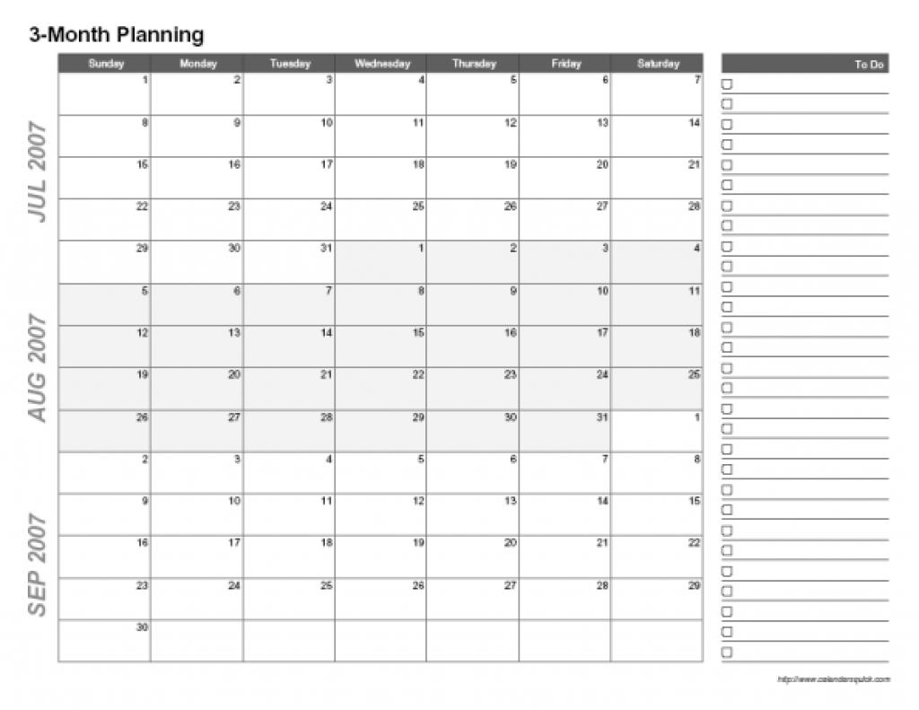 Free Printable 3 Month Calendar Template 2017 Hijri Calendar