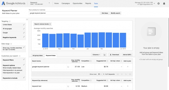Guide To Google Keyword Planner For Seo | Serps