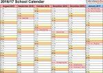 School Calendar Template Monday Thursday