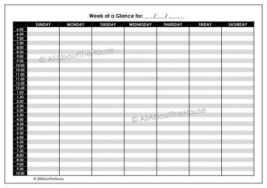Work Daily Planner | Allaboutthehouse Printables