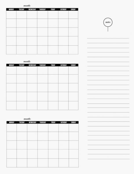 3 Month Calendar Printable   Online Calendar Templates
