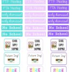 Free Printable School Planner Stickers