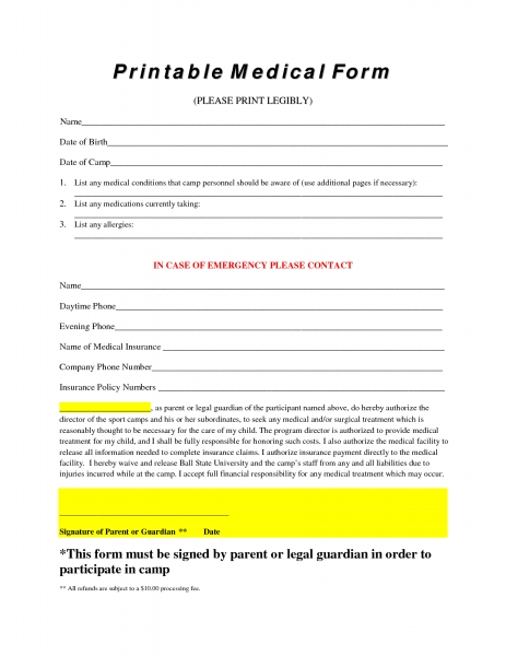 Free Printable Doctor Forms Csep Systems Engineer Cover Letter