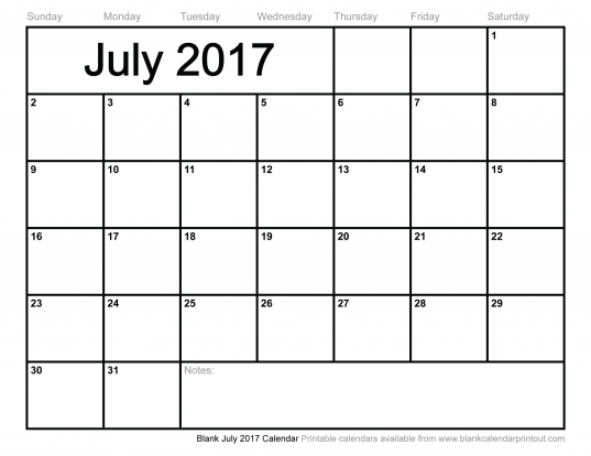 July 2017 Calendar Archives   Printable Calendar Hub