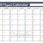 Calendar To Print For Bills