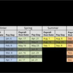 Twice A Month Pay Calendar