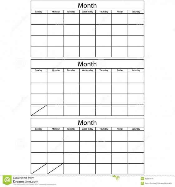 Printable 3 Month Calendar | Online Calendar Templates
