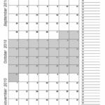 Free 3 Month Calendar Templates