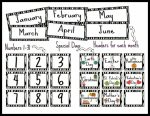 Printable Calendar Numbers For Classroom
