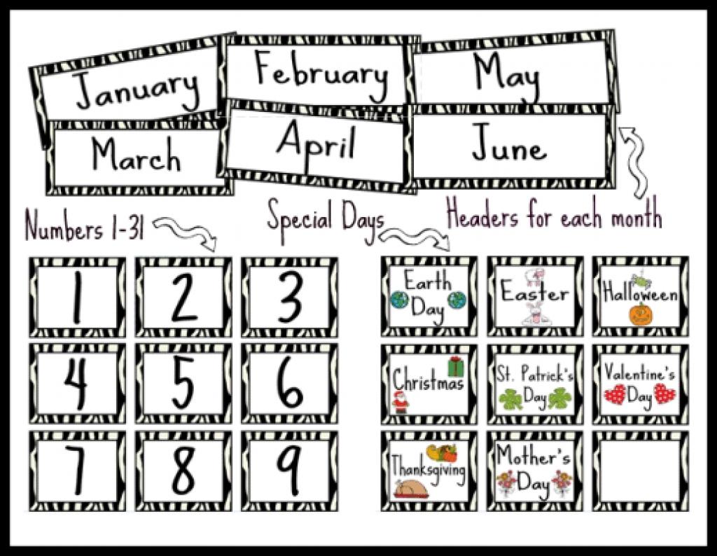 9 Best Images Of Printable Calendar Numbers Classroom Printable
