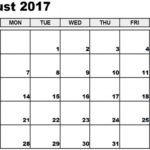 Calender In August17 South Africa
