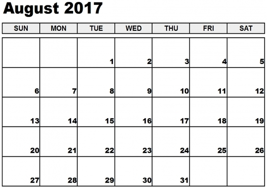 August 2017 Calendar South Africa   Calendar And Images