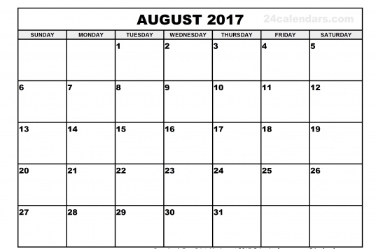 August 2017 Calendars South Africa   Calendar And Images