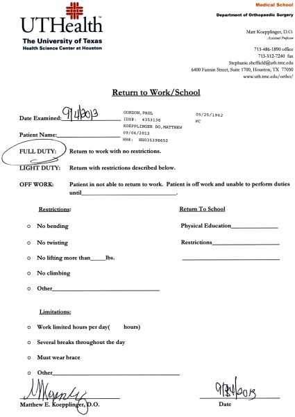 Best Photos Of Doctors Note For Work   Printable Doctors Excuse