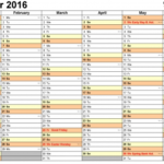 Employee Yearly Schedule Template Printable