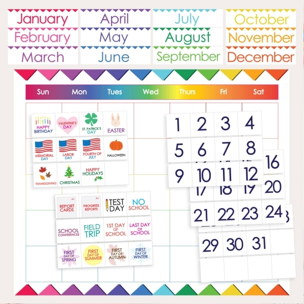 Classroom Calendar Numbers : Printable calendar numbers for classroom