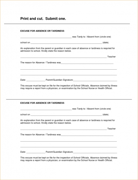 Doctor Excuse Form   Templates.franklinfire.co