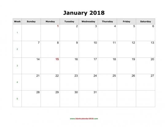 Free 2018 Calendar Templates   Geocvc.co