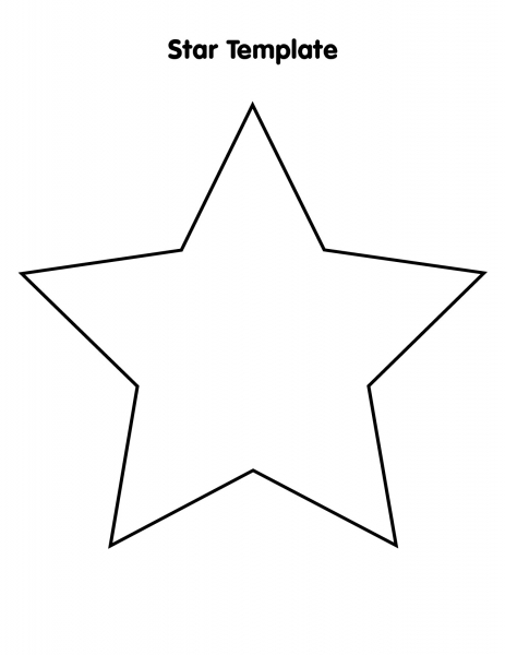 8 5 x 11 star template