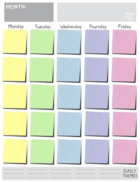 Monday Through Friday Calendar Template Great Printable Calendars