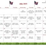 Printable Calendar Of National Days