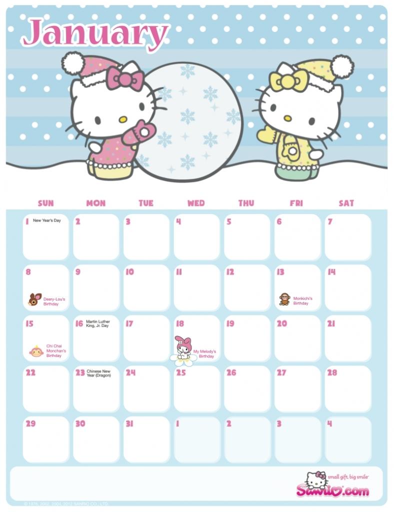 Sanrio Printable Calendar | Printable Online Calendar