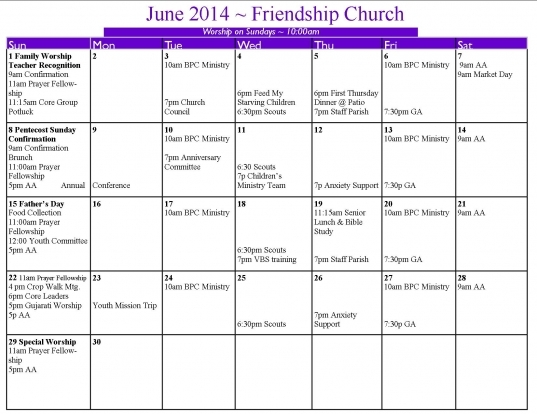 United Methodist Calendar 2016 Printable | Calendar Template 2017