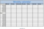 Weekly Calendar With Time Slots Week Months June And July