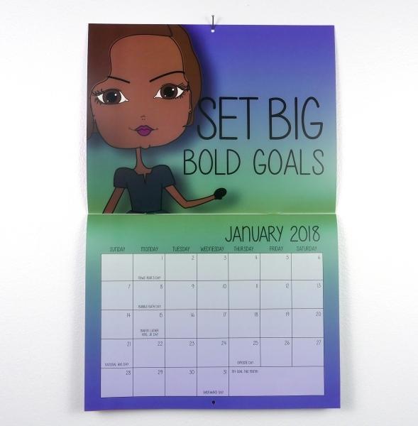 2018 Inspirational African American Wall Calendar | Pincurl Girls