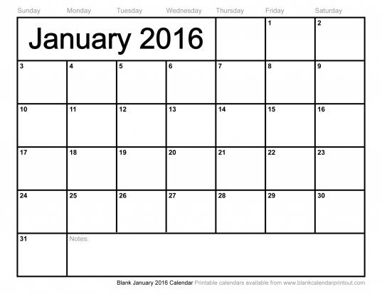 8.5 X 11 2016 Calendars Printable | Calendar Template 2017