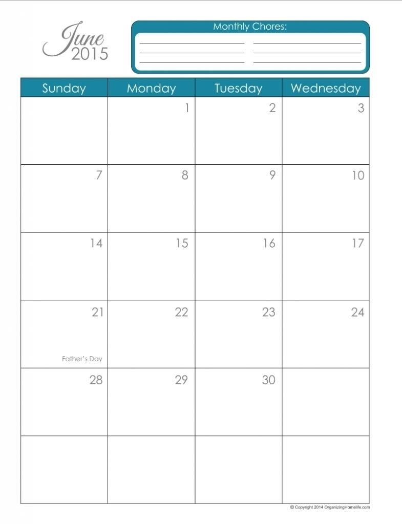 8.5 X 11 Calendar Template * Calendar Printable Template