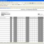 Excel Employee Attendance Calendar Template
