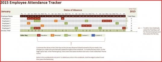 Attendance Tracking Calendar   Targer.golden Dragon.co