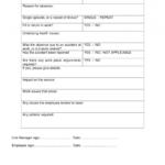 Blank Return To Work Form
