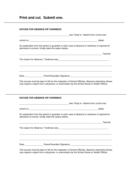 Best Photos Of Doctor Excuse Form   Blank Printable Doctor Excuse