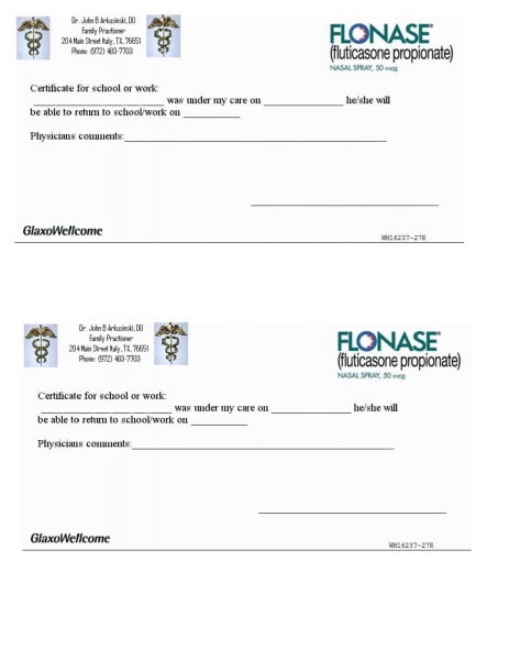 Best Photos Of Printable Doctors Note For Work Template