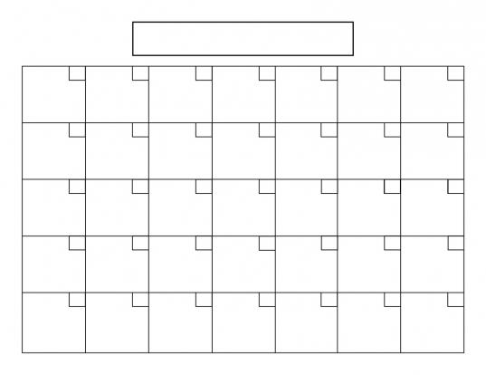 Blank 5 Day Calendar | Printable Online Calendar