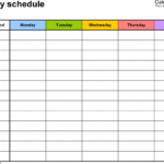 Daily Schedule Free Printable Calendar