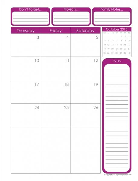 January 2016 Calendar Printable 8 X 11 | Calendar Template 2017