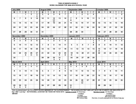 Printable 12 Month Calendar On One Page | Printable Calendar