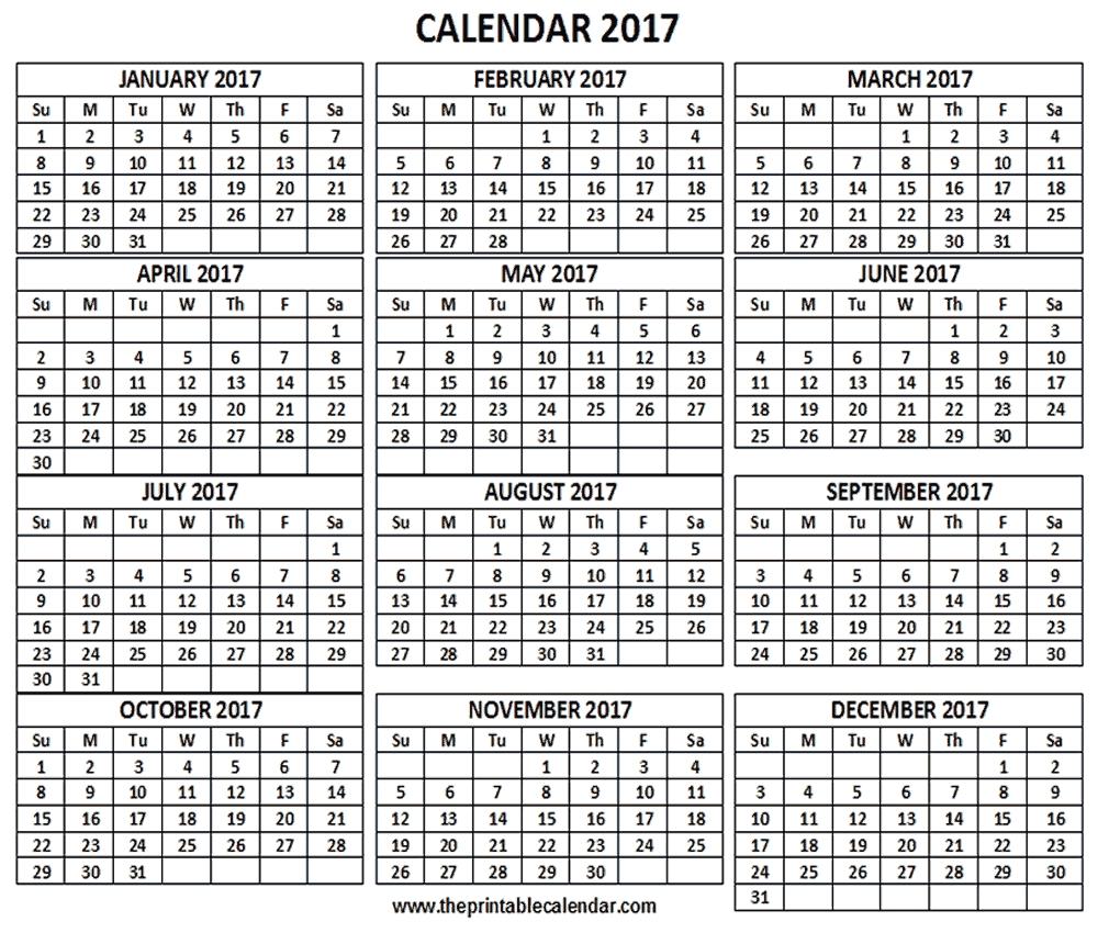 Printable 12 Month Calendar – Printable Pages