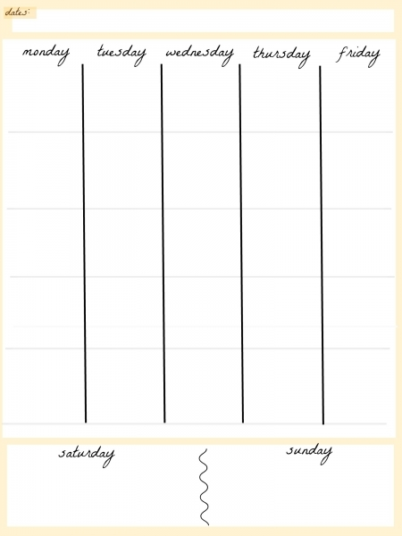 Printable 5 Day Calendar | Free Calendar 2017   2018