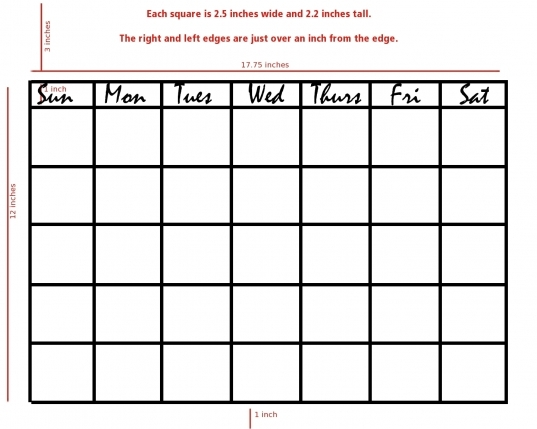 Blank Weekly Schedule Grid   Commonpence.co