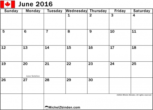 July 2017 Calendar Canada | Calendar Printable Free